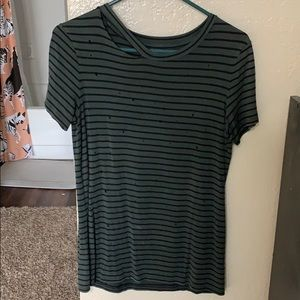 Distressed AE Striped T-shirt